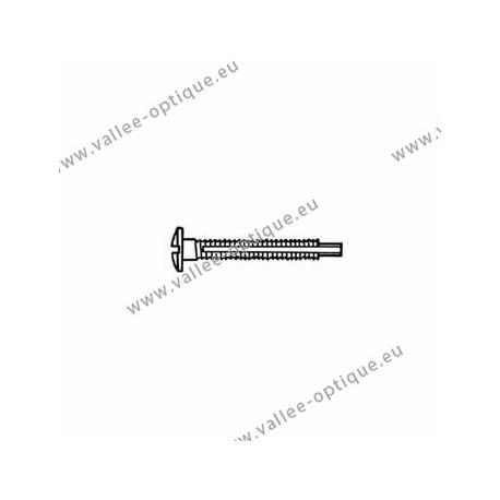 Screw with locking system by nylon thread 1.3 x 2.8 x 11 - white