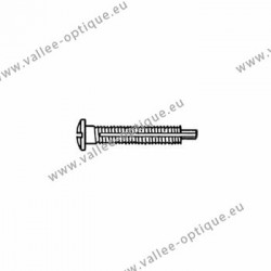 Screw with locking system by nylon thread 1.6 x 2.8 x 11 - white