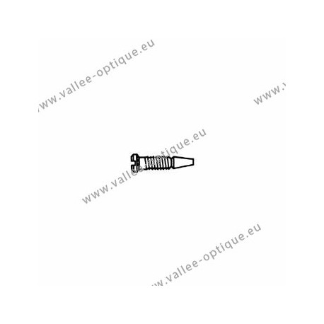 Stainless steel self-centering screw 1.2 x 2.0 x 4.0 - white
