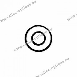 Metal washer 1.3 x 2.5 x 0.4 - white