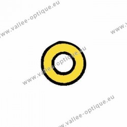 Metal washer 1.3 x 2.5 x 0.4 - gold