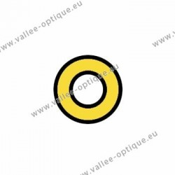 Metal washers 1.4 x 2.5 x 0.2 - gold