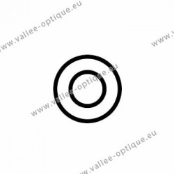 Metal washer 1.4 x 2.5 x 0.4 - white