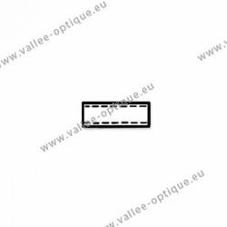 Plastic tubes 1.2 x 1.8 x 5.0 - white