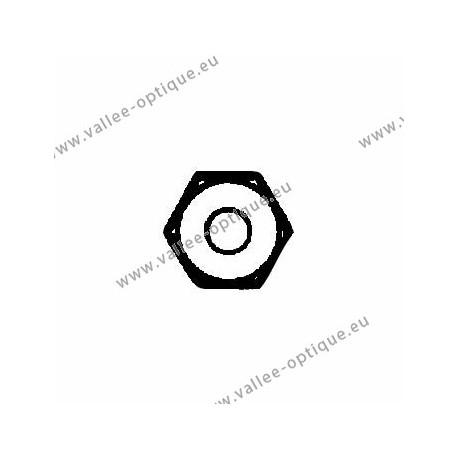 Standard nickel silver hexagonal nuts 1.4x2.5x1.4 - white