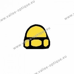 Nickel silver hexagonal cap nuts 1.2x2.25x2.1 - gold