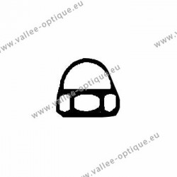 Nickel silver hexagonal cap nuts 1.4x2.55x2.6 - white