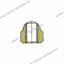 Ecrous maillechort bombés traversants 1.2x2.2x2.1 - doré