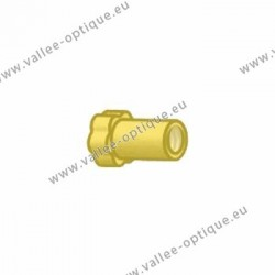 Nickel silver long nuts 1.2x2.5x3.0 - gold