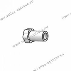 Ecrous maillechort longs 1.4x2.5x3.0 - blanc