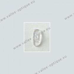 Plaquettes à clipper 15 mm asymétriques - silicone - 20 paires
