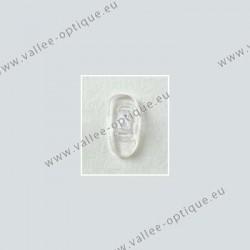 Plaquettes à clipper 17 mm asymétriques - silicone - 100 paires