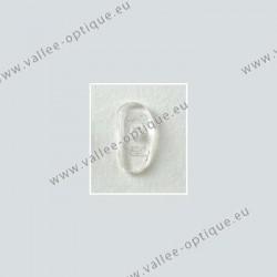 Plaquettes à visser 17 mm asymétriques - silicone - 20 paires