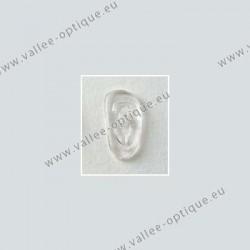 Plaquettes à visser 19 mm asymétriques - silicone - 20 paires