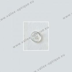 Plaquettes à visser 9 mm symétriques - silicone - 10 paires