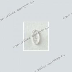 Plaquettes à visser 13 mm symétriques - silicone - 10 paires