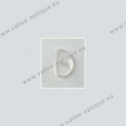 Solid screw on nose pads 14 mm - ultra thin - 10 pairs