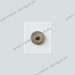 Screw on titanium nose pads 8 mm - titanium colour