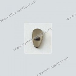 Screw on titanium nose pads 12 mm - titanium colour