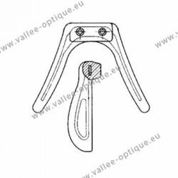 Silicone saddle bridge - Plastic frame - Gold insert - Small