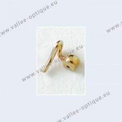 Nose pad arms for screw on nose pads - gold plated