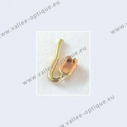 Nose pad arms for clip on nose pads - gold plated